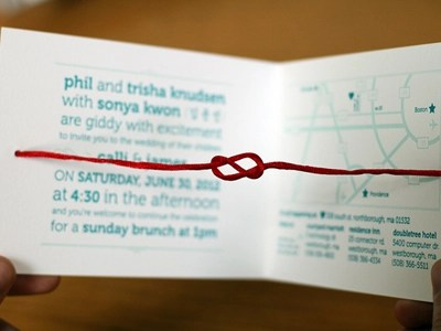 Tie The Knot Unique Wedding Invitations By James Kwon On