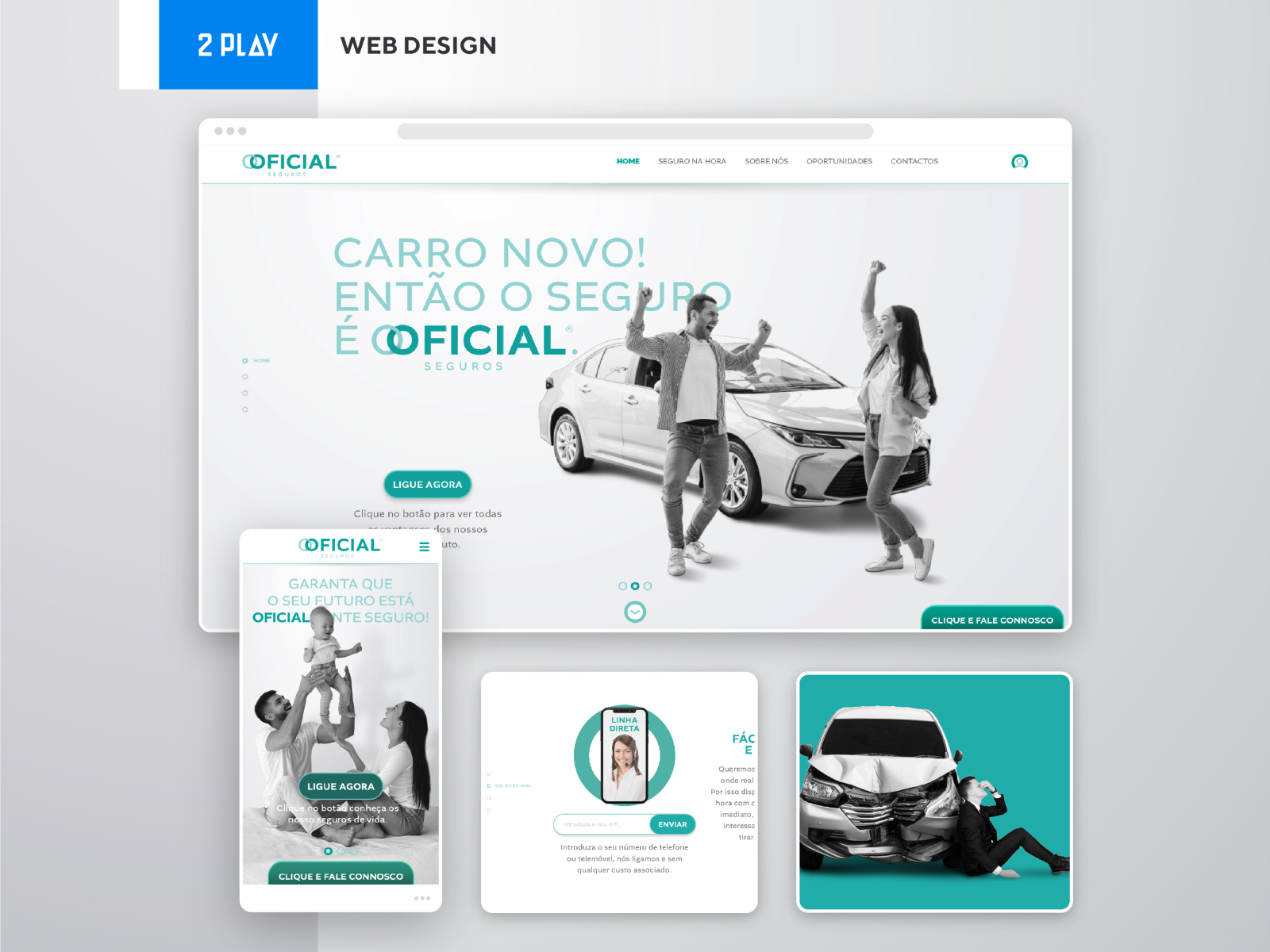 Oficial Seguros Branding Social Media Web Design By 2play On Dribbble