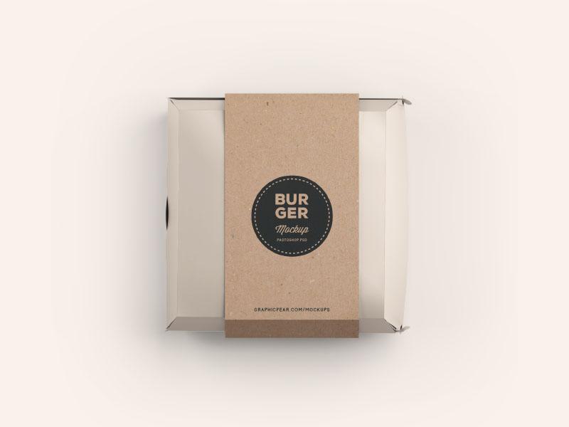 Download Burger Box Mockup .PSD by Wassim | Dribbble | Dribbble