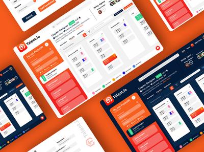 Talent.io ( Recruit Platform Web App) Concept UI