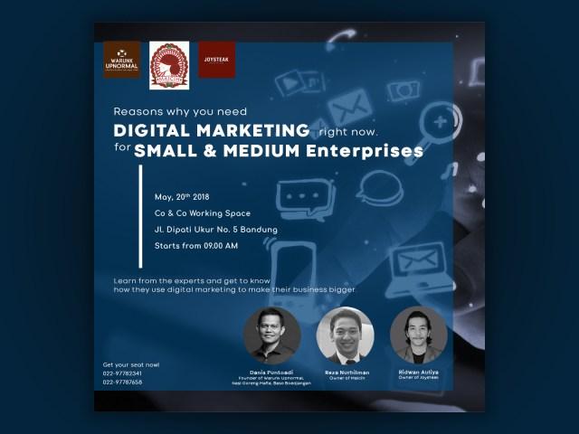 Digital Marketing Seminar Poster by Patrick Jefferson on Dribbble