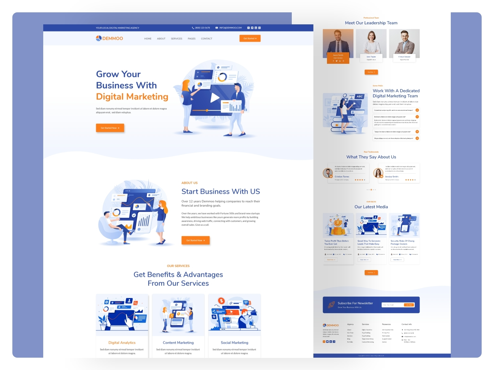 It has content tabs and carousel. Digital Marketing Agency Website Templates By Ordain It On Dribbble