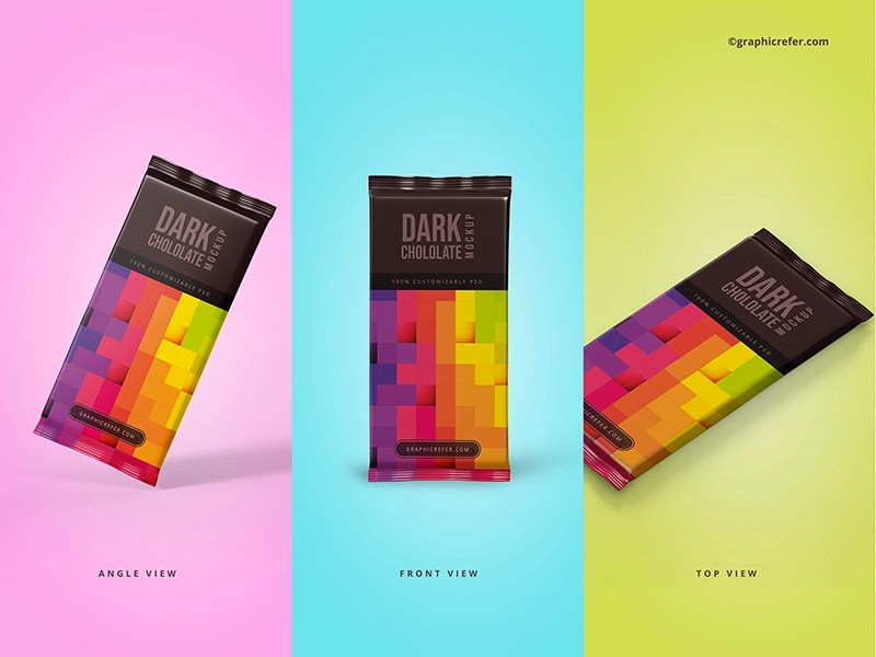 Download Chocolate Bar Packaging Mockups by Ananta Bose on Dribbble