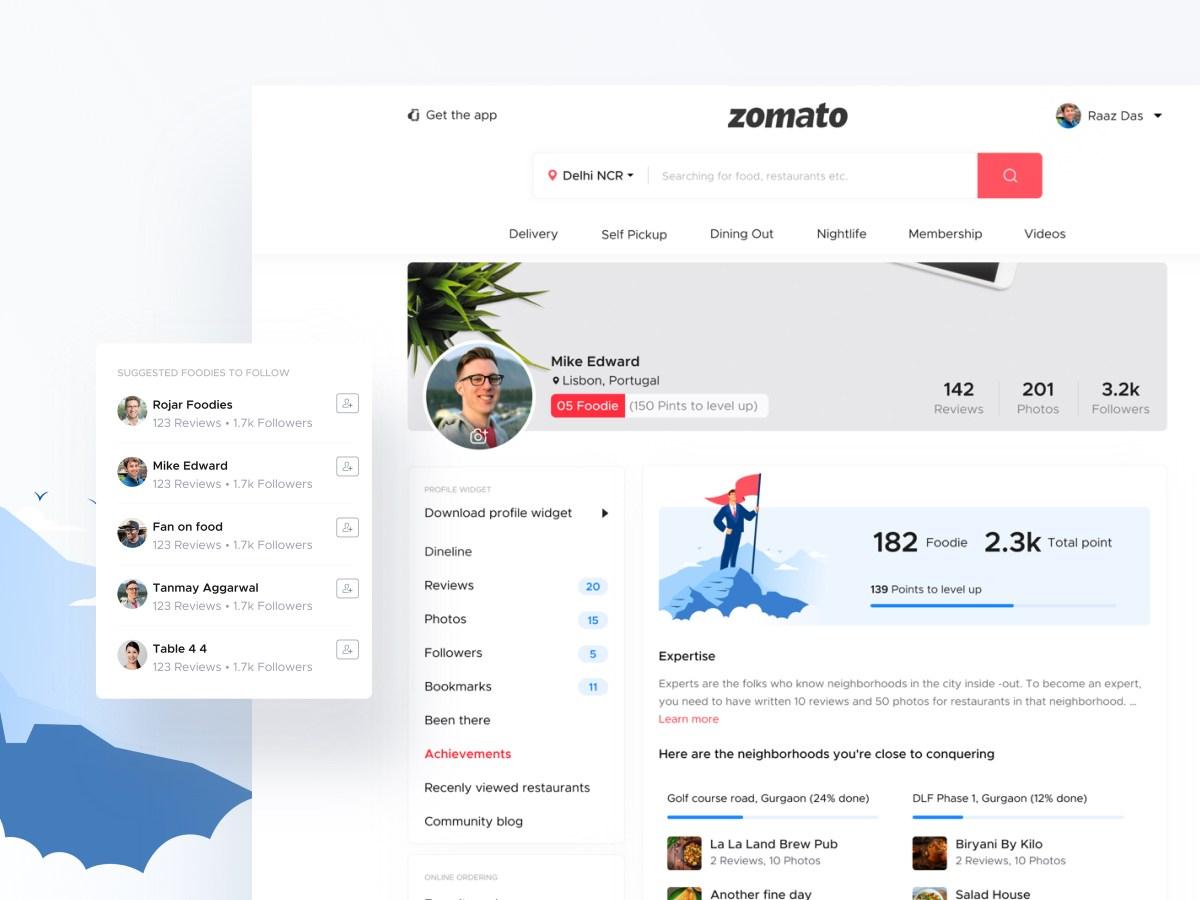 profile screen ui design