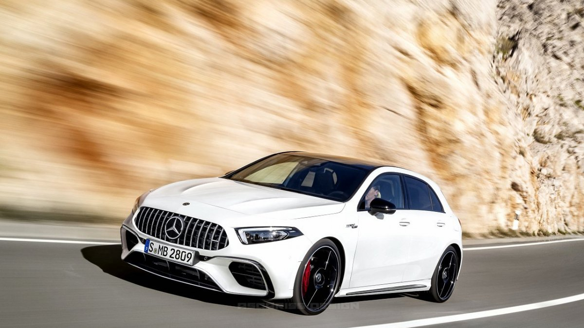 2018 Mercedesbenz Aclass Imagined As Hot Amg A45, Coupé