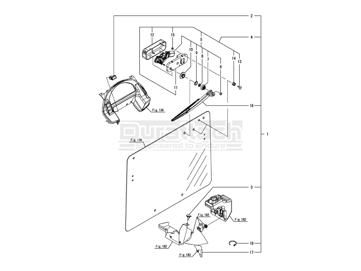 Wiper Kit For Yt2 Series Tractors