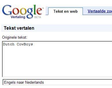 Google translate dan eindelijk ook deels in het Nederlands
