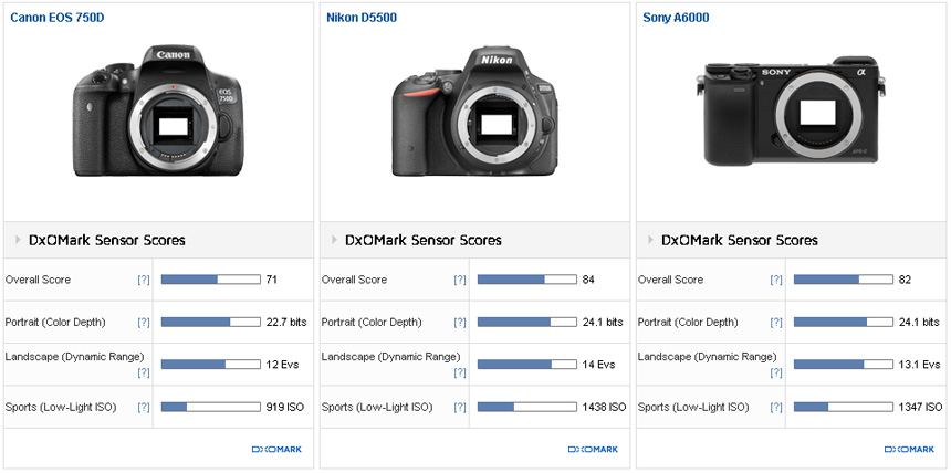Canon EOS 750D (Rebel T6i) sensor review: First Canon APS