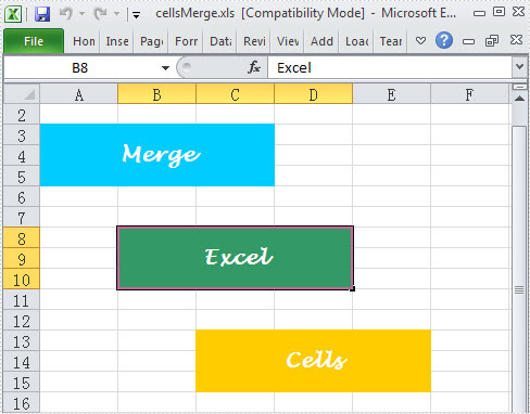 Easily Merge Excel Cells in C#, VB.NET