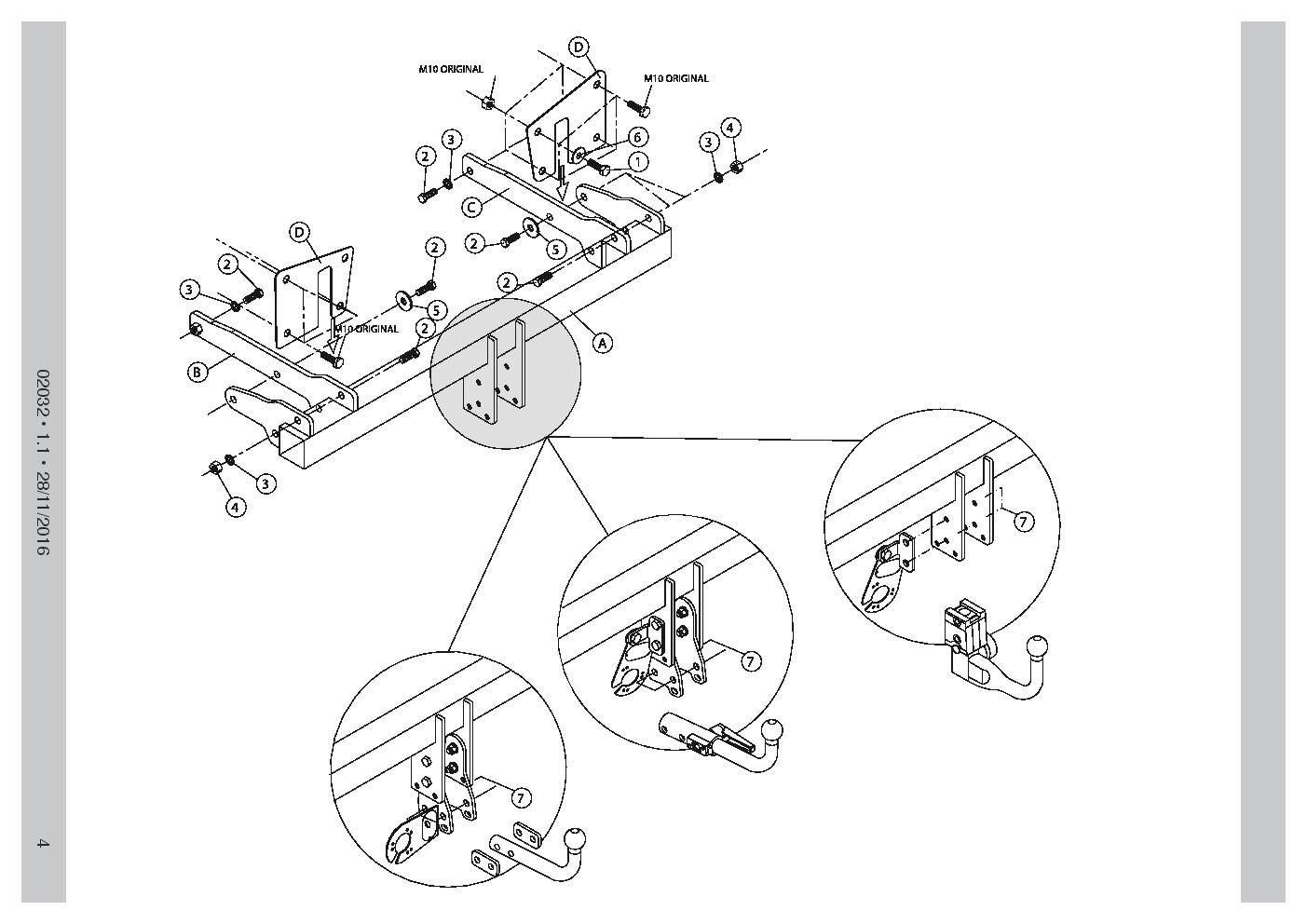 Detachable Towbar For Audi A4 Avant Estate, Quattro, S