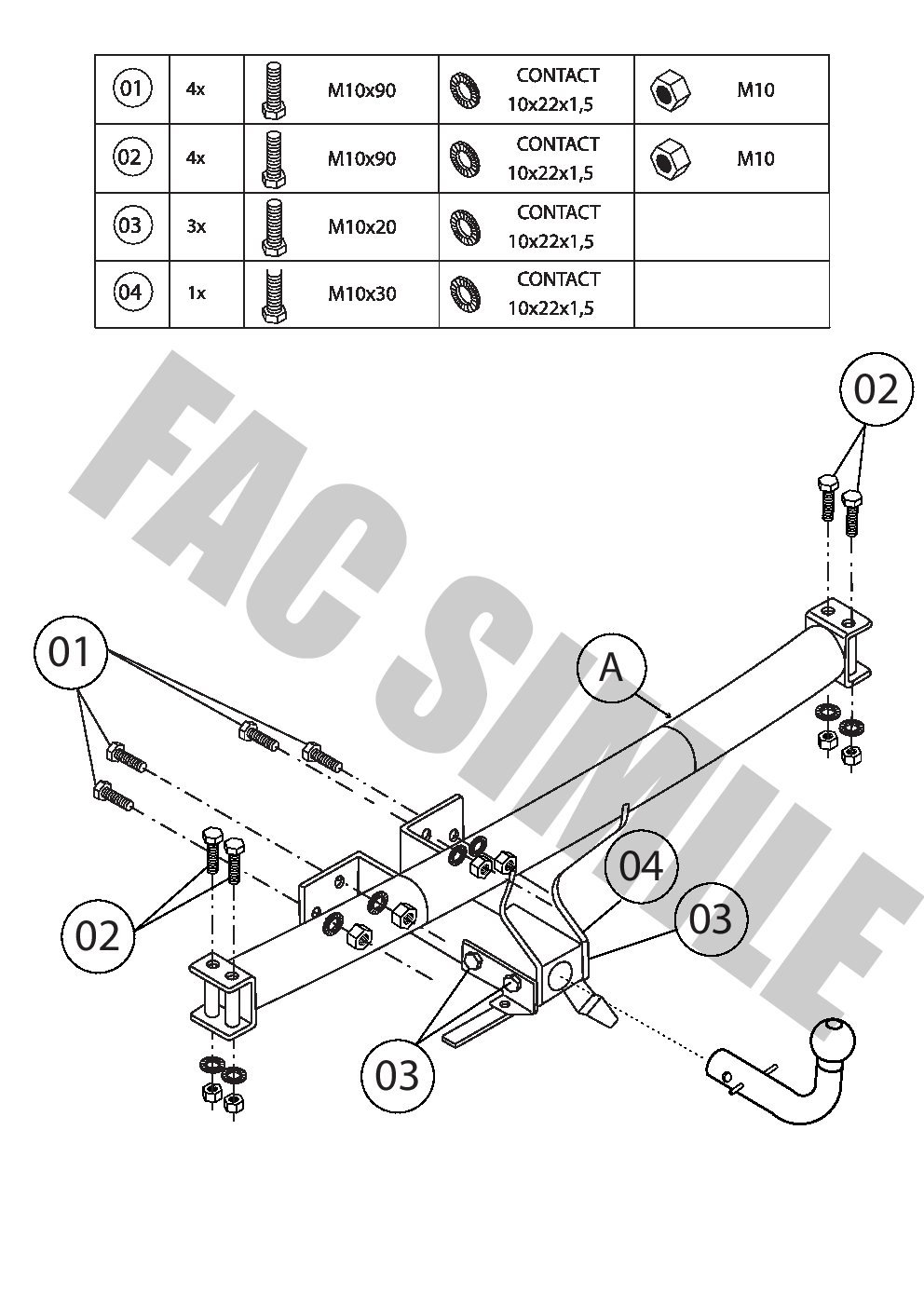 Detachable Towbar 13p C2 Wiring Kit for Rover RANGE ROVER