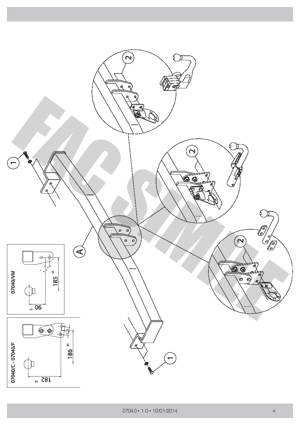 hight resolution of swan neck towbar 13pin c2 wiring kit for