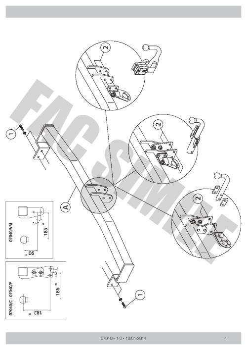 small resolution of swan neck towbar 13pin c2 wiring kit for