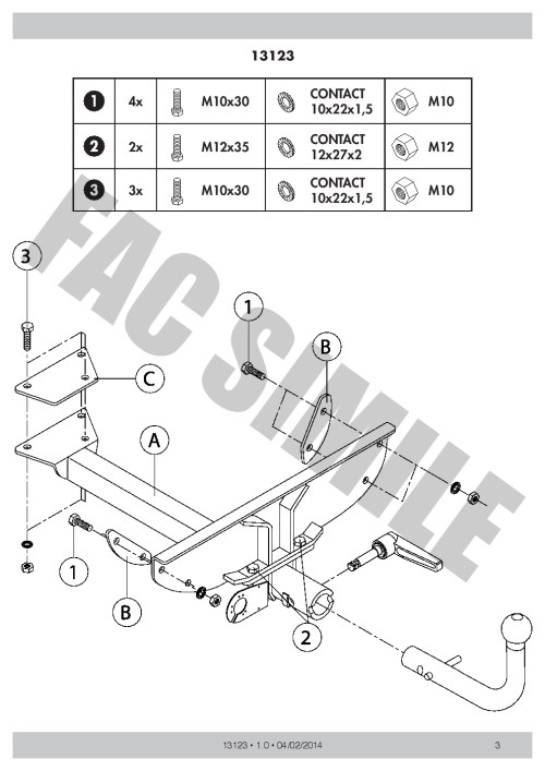 small resolution of detach towbar 13p c2 wiring kit for fiat