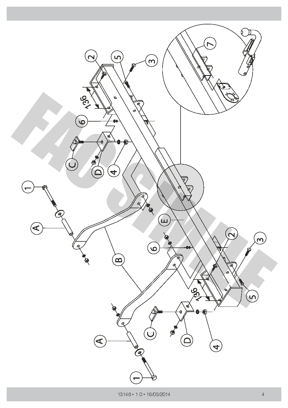 hight resolution of detachable towbar 7pin wiring for peugeot boxer van