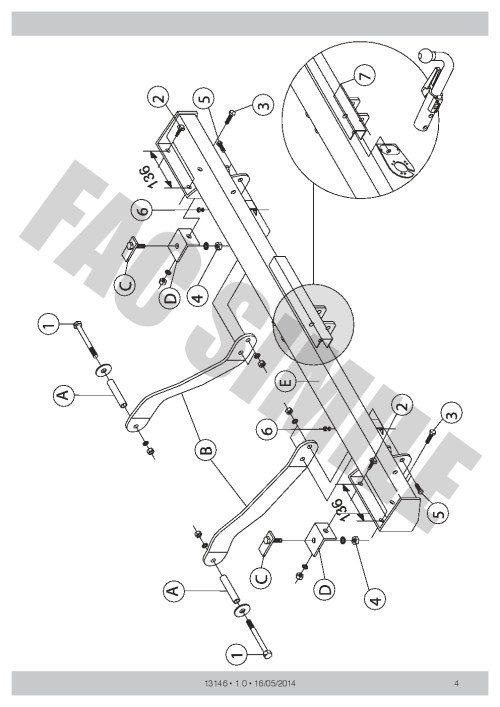 small resolution of detachable towbar 7pin wiring for peugeot boxer van