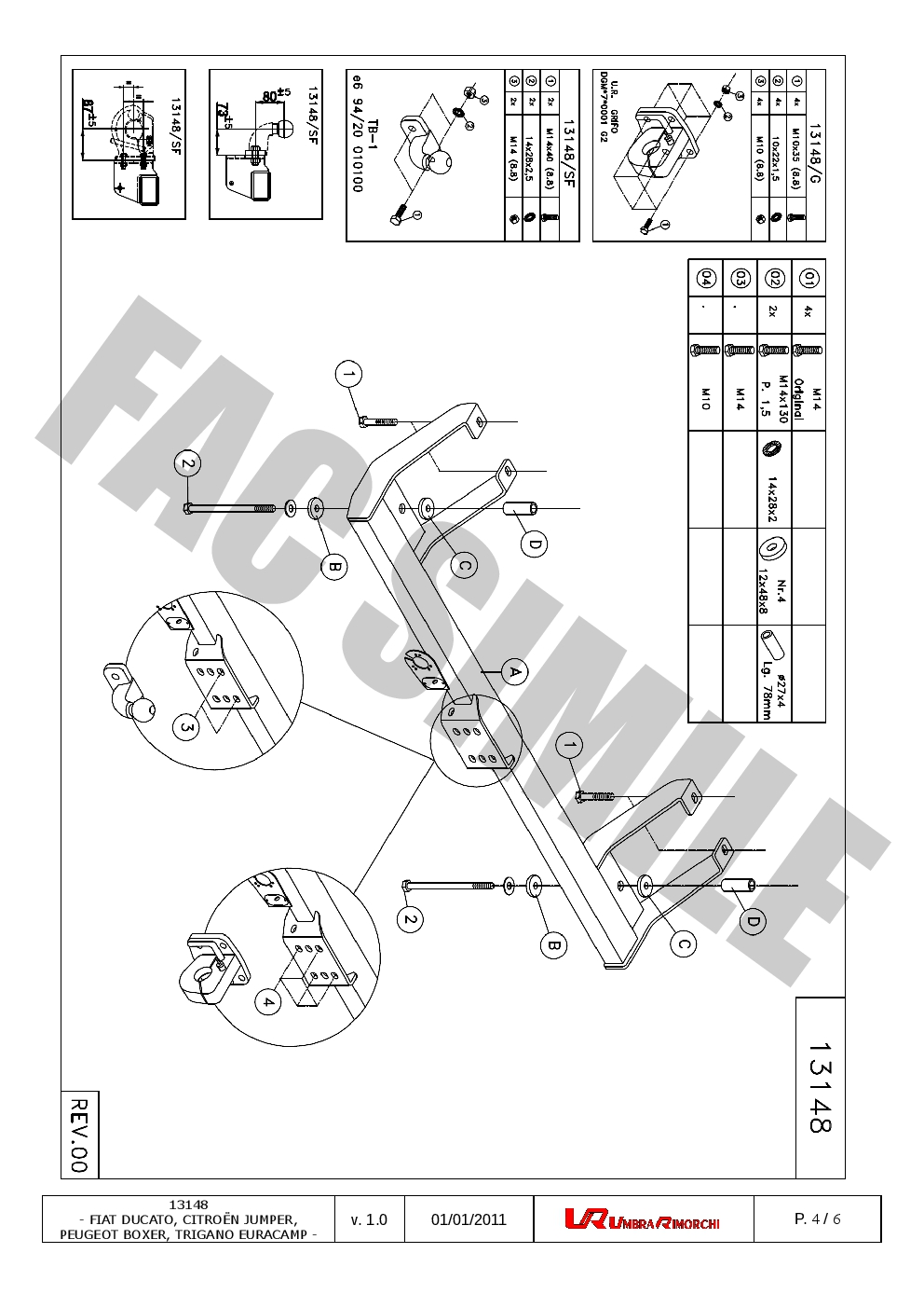 medium resolution of fixed flange towbar 7pin wiring for peugeot boxer