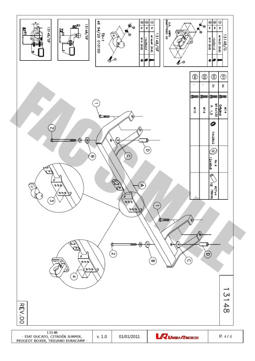 small resolution of fixed flange towbar 7pin wiring for peugeot boxer