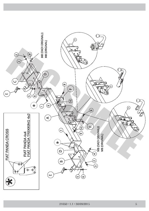 small resolution of vertical detachable towbar 7p wiring for fiat panda