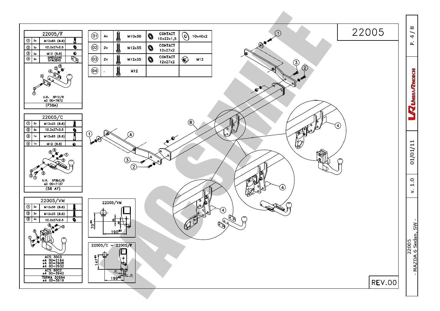 Detachable Towbar 7p Bypass Relay For Mazda 6 Estate Excl
