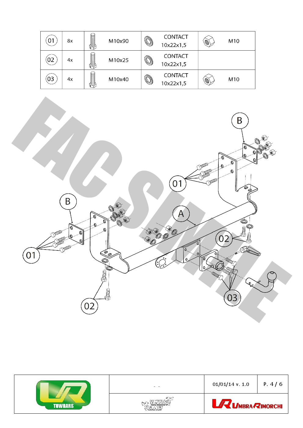 towbar wiring instructions