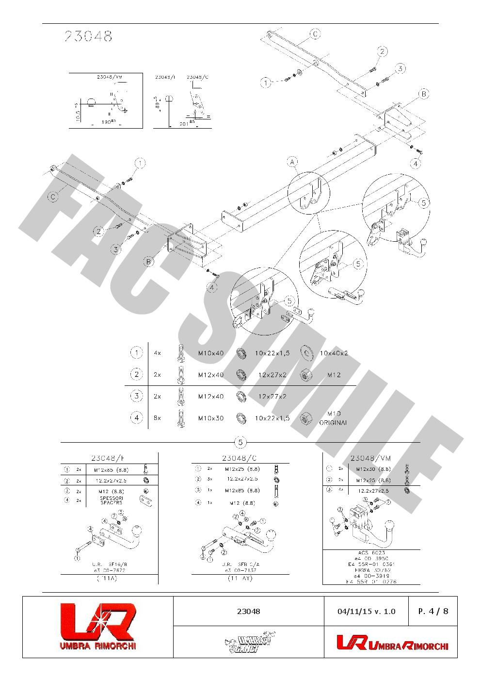 Bola de Remolque Fija Cisne +Kit C2 7p para Mercedes GLK