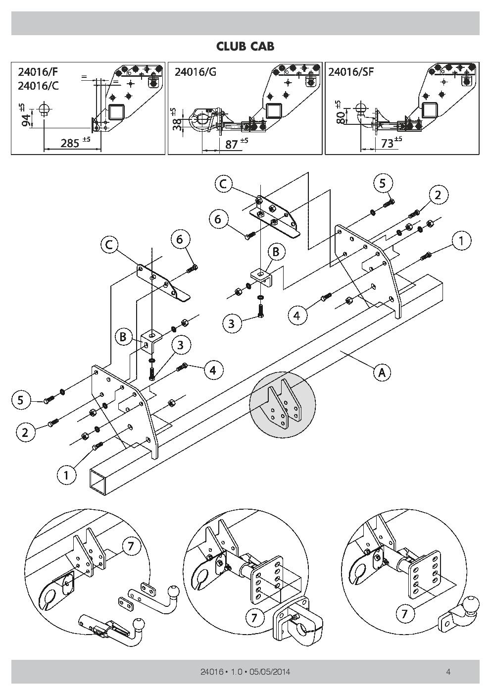 medium resolution of swan neck towbar 7p wiring for mitsubishi l200