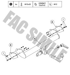 detachable towbar 13pin c2 wiring kit for nissan  [ 992 x 1403 Pixel ]