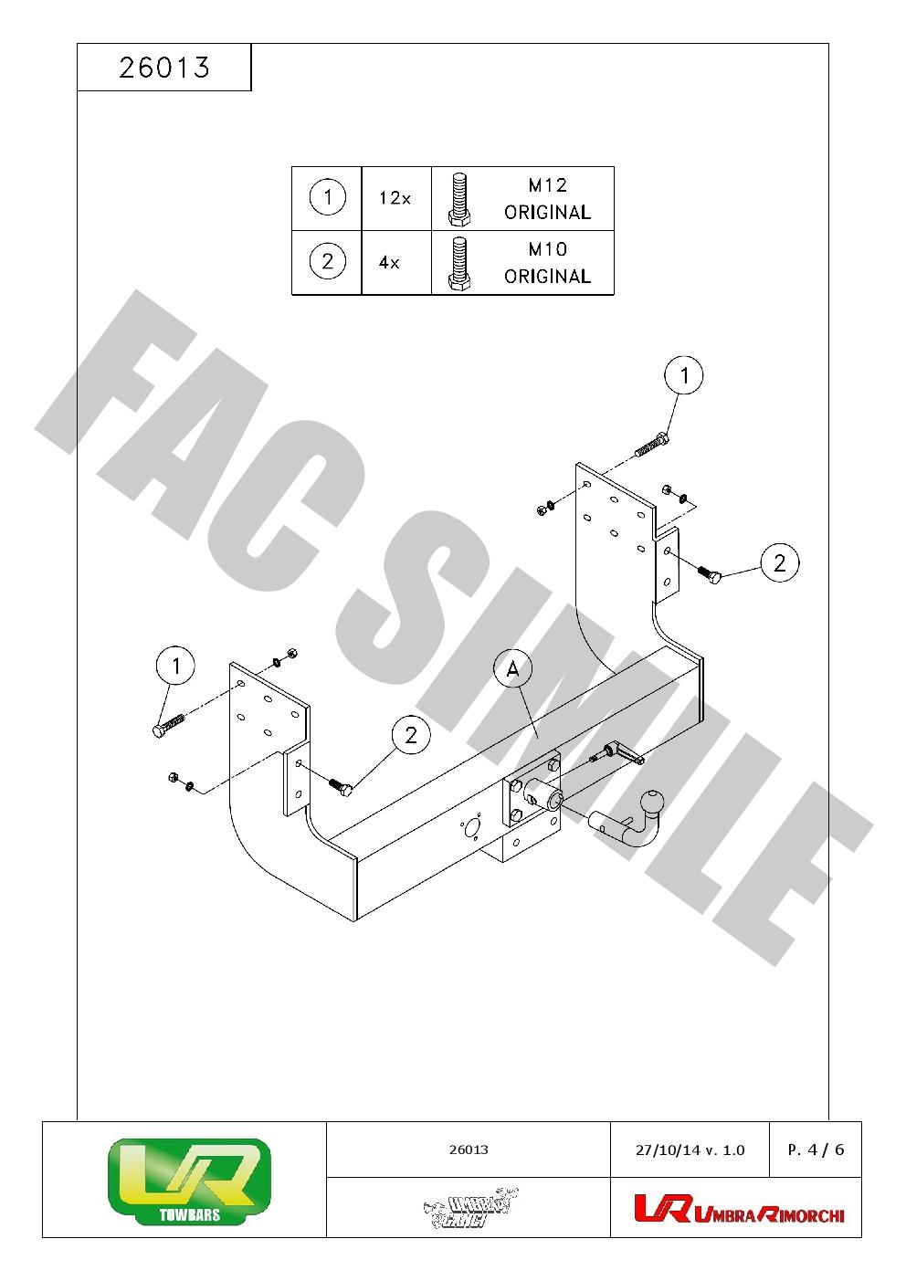 Flange Towbar + 7 pin Electrics for Nissan Navara NP300