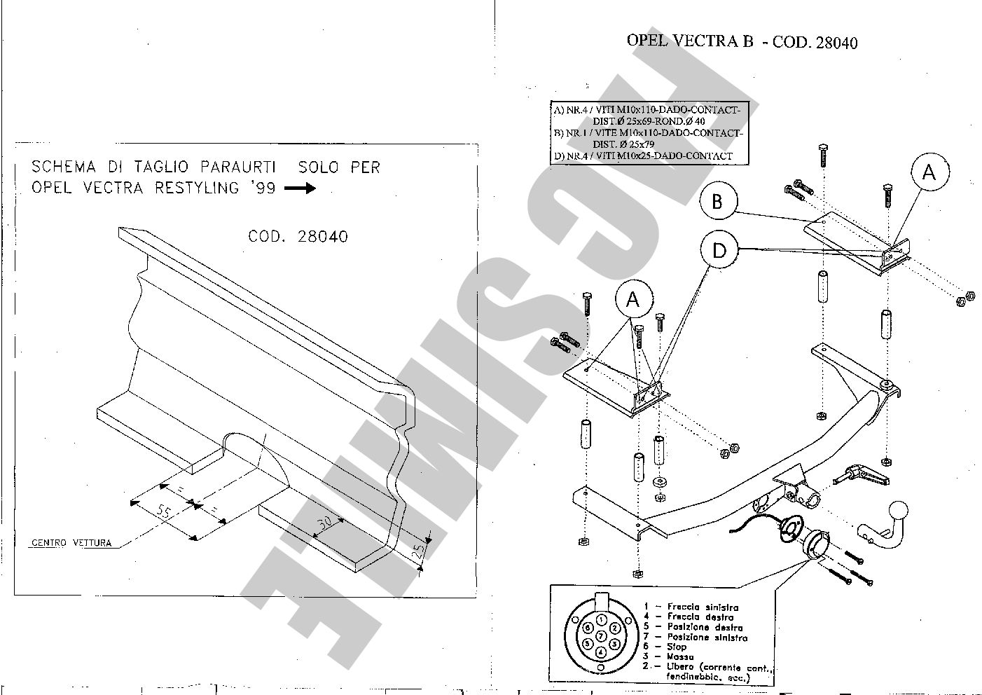 towbar wiring instructions vauxhall vectra