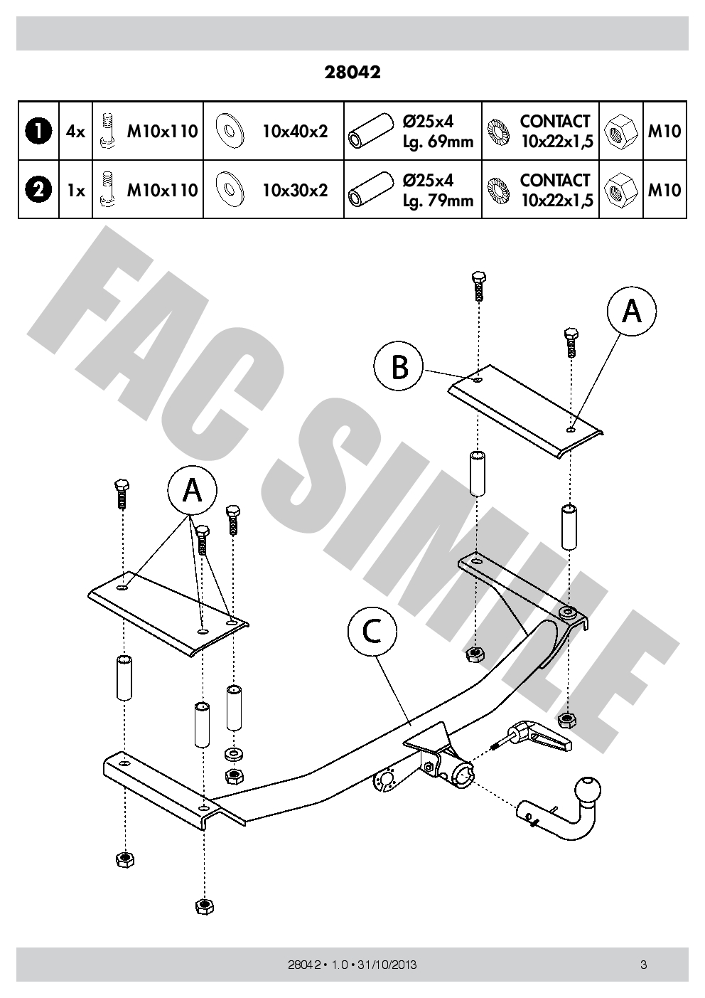 hight resolution of detach towbar 13p c2 wiring kit for opel