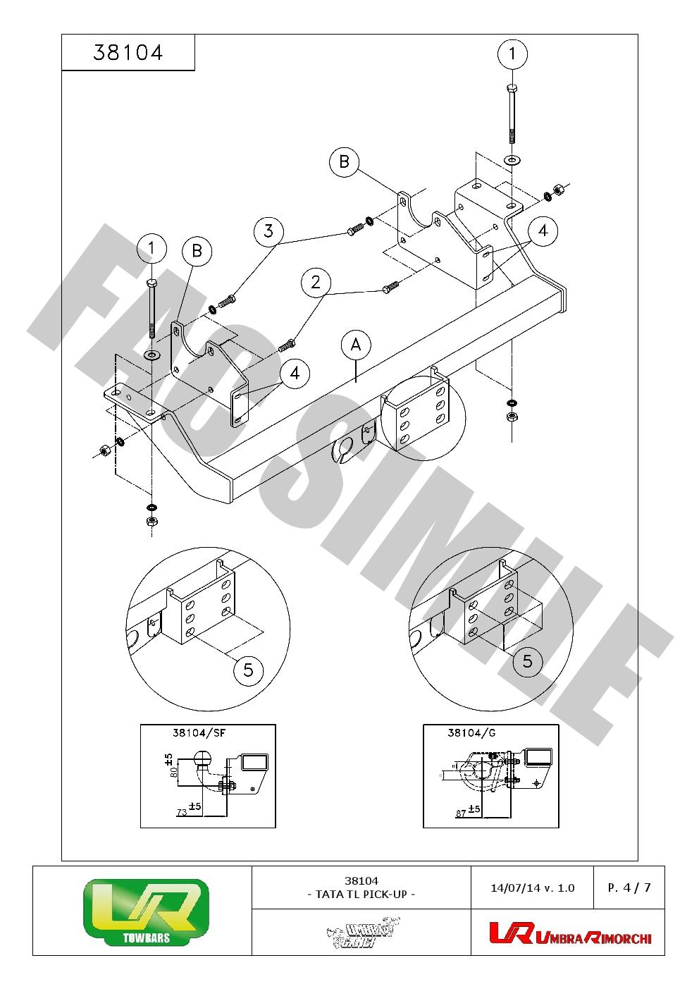 Fixed Flange Towbar 13 pin kit C2 electrics New Car Tow