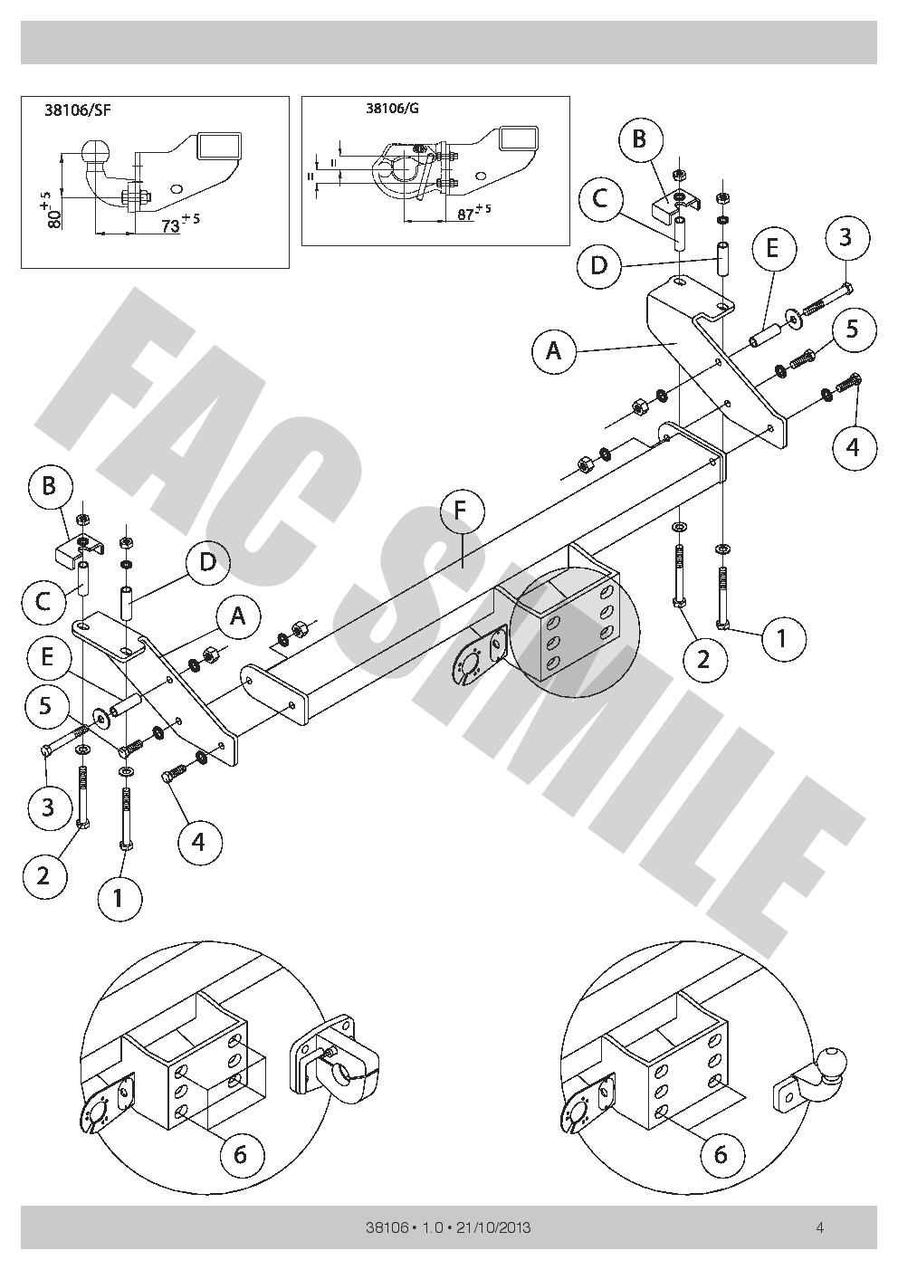 Fixed Flange Towbar Manual Car Tow Bar for Tata Xenon