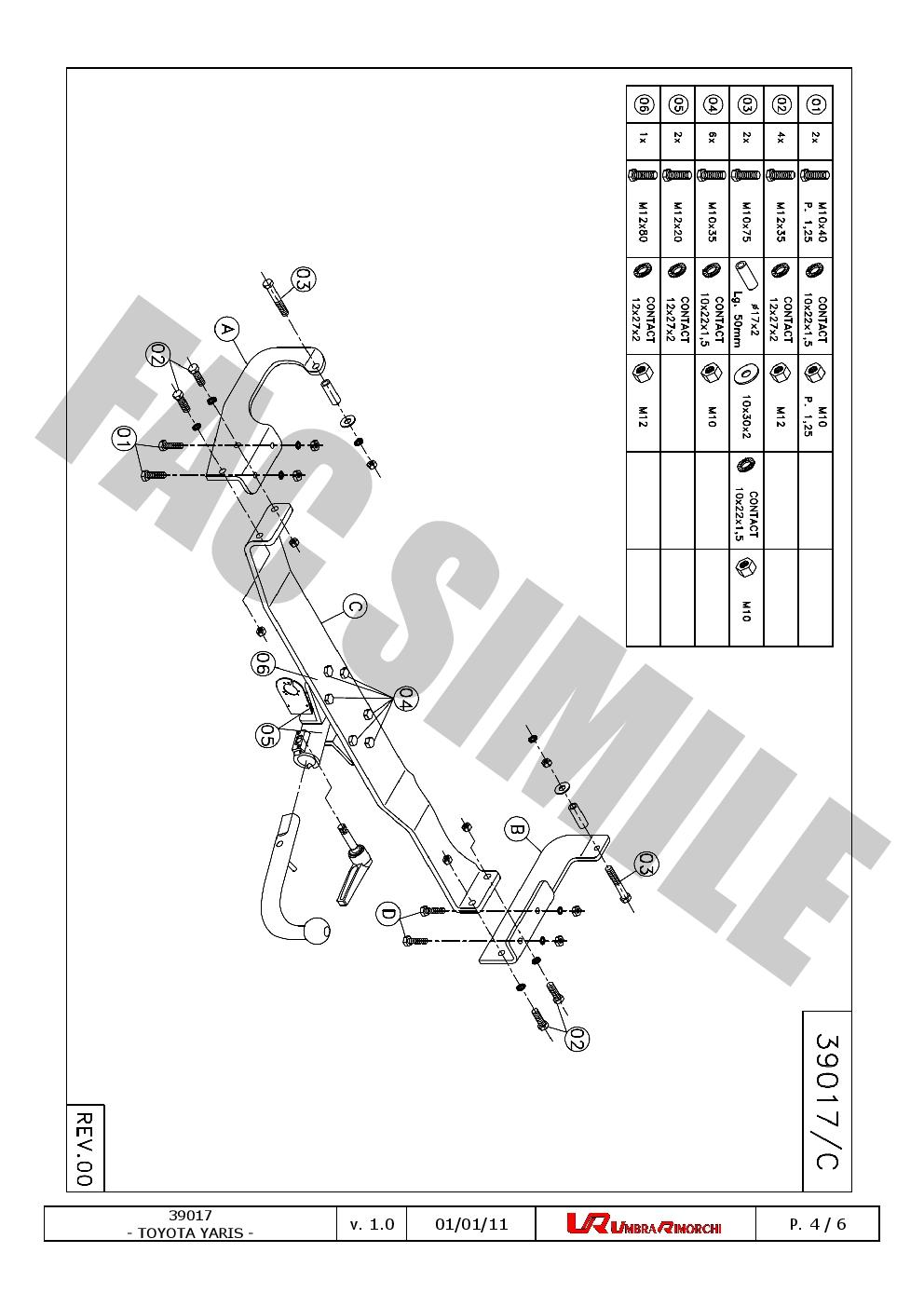 Detachable Towbar + 7pin Electrics for Toyota YARIS Hatch