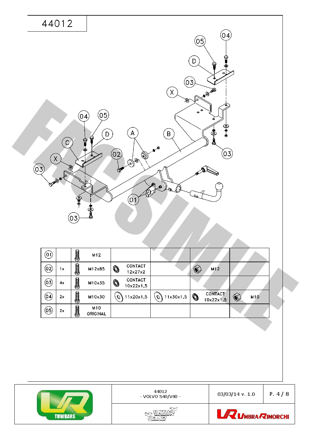Detach Towbar + 13p C2 Wiring Kit fits Volvo V40 ESTATE
