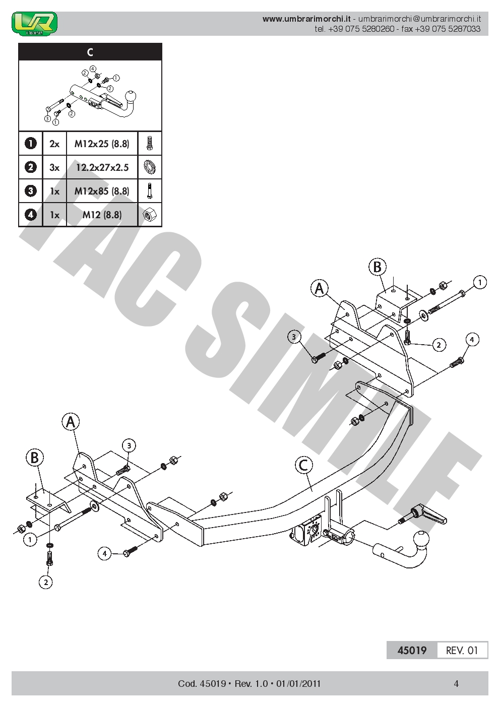 medium resolution of detachable towbar for hyundai h1 h300 van or