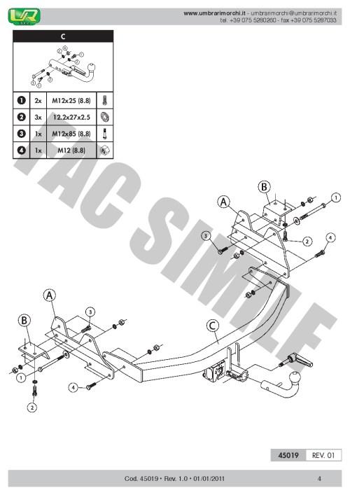 small resolution of detachable towbar for hyundai h1 h300 van or