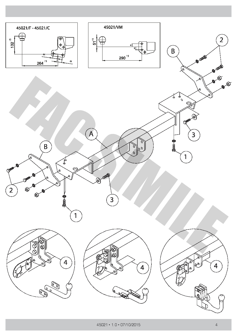 DETACHABLE TOWBAR + 7pin Wiring for Hyundai TUCSON SUV 2