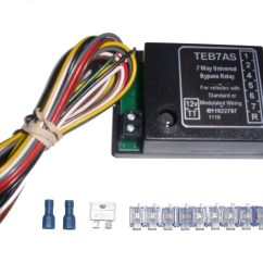13 Pin Towbar Wiring Diagram Uk Traxxas Stampede Vxl Parts Universal 7 Way Bypass Relay Towing Electrics