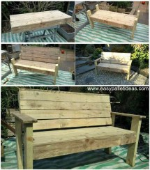 Bench Pallets Tutorial - Easy Pallet Ideas