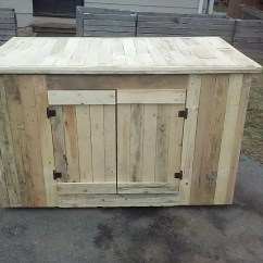 Kitchen Hutch Ideas Island Seating Wooden Pallet With Cabinets Easy