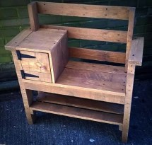 Pallet Bench With Storage And Shoe Rack - Easy Ideas