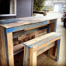 Outdoor Patio Bar Table From Pallets
