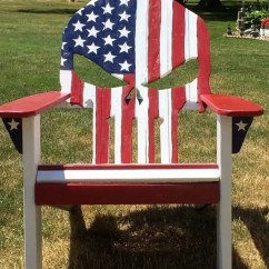 Wooden Skull Chair Office Gym Ball Pallet Adirondack Painted Flag Diy Easy Ideas
