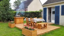 Bbq Feasting Deck Of Pallets - Diy Easy Pallet Ideas