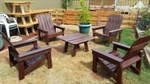 diy wood pallet outdoor furniture