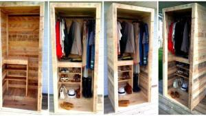 Built A Pallet Wardrobe Or Pallet Closet Easy Pallet Ideas