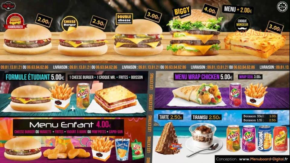 my food a quimper carte menu et photos