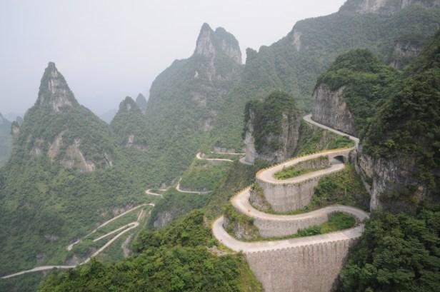 beautiful drives - tianmen mountain