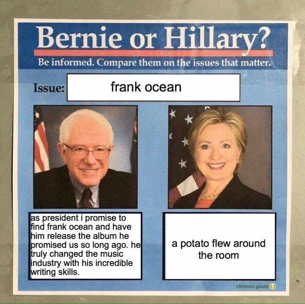 bernie vs hillary funny